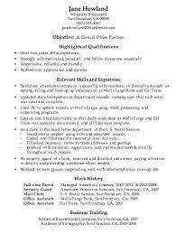 ... Interesting Resume For Work 4 Resume Sample Clerical Office Work ...