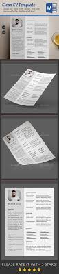 Resume Templates Clean Simple Resume Template Psd Docx