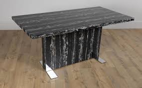magnus black marble dining table with 6 leon black chairs only 549 99 furniture choice