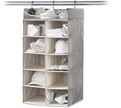 neatfreak hanging shelf closet organizer 2 x 5 shelves harmony twill