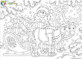 25 Het Beste Kerstman En Rendieren Kleurplaat Mandala Kleurplaat