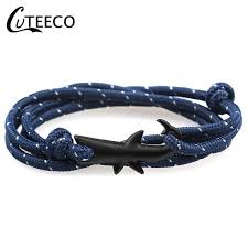 <b>CUTEECO New</b> Adjustable Sliver Shark Fashion paracord <b>Anchor</b> ...