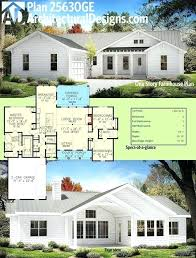 farmhouse plans architectural designs one story modern farmhouse plan gives you 3 beds and over square