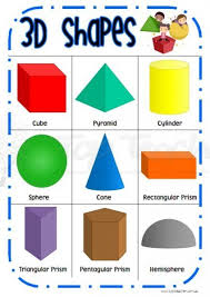 Shapes Chart For Nursery 3d Shape Desk Chart Top Teacher Innovative And Creative