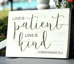 love is patient wall decor scripture canvas art religious wall art canvas wall murals