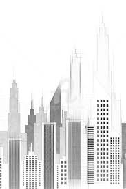 architecture buildings drawings. Simple Buildings New York City Buildings And Skyscrapers Sketch  Digital Arts 2018 By Radu  Bercan In Architecture Drawings