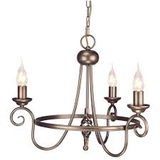 metal candle chandelier 3 light bronze candles sleeves