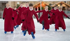 Image result for winchester christmas market skating choristers