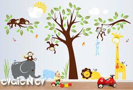 jungle wall decals for nursery safari wall decals nursery wall decals monkey wall decals baby wall