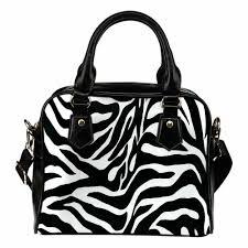 details about shoulder handbag zebra print custom design edition leather handbag