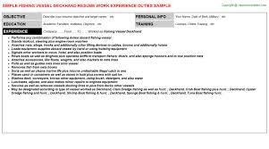 fishing vessel deckhand job resume