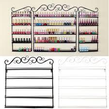 image is loading 5 tier metal nail polish holder shelf wall