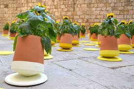 Rolling Flower Pots Creative Healthier