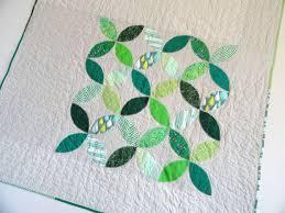 217 best Orange Peel Quilts images on Pinterest | Kid quilts ... & Lap Quilt, Green Leaf Applique Throw Quilt or Baby Quilt.