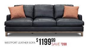 westport leather sofa