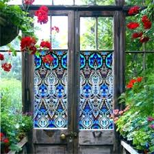 stained glass appliques window stickers designer printed static cling clear and privacy s