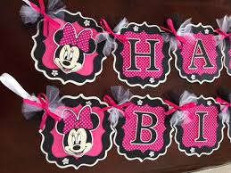 Pink And Black Minnie Mouse Decorations Minnie Mouse Party Decorations Hot Pink Black Minnie Mouse