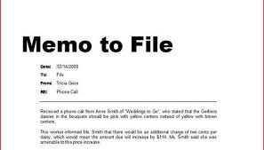 How To Write A Memo To File Bizfluent