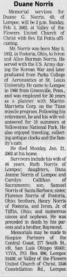 Obituary for Duane G. Norris, 1932-2002 (Aged 69) - Newspapers.com