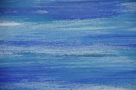 abstract oil painting on canvas blue colored background