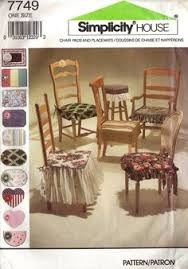 vine chair pads and placemats pattern five styles simplicity 7749 unused uncut chair padsdining table chairsvine