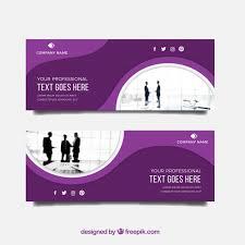 Business Banner Design Modern Business Banner With Flat Design Vector Free Download