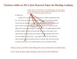 How To Cite References A Style Sources In Research Paper Format Mla