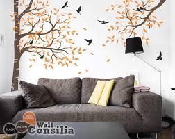 set of large corner tree with brach decals