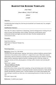 Babysitting Resume Template Beauteous Babysitter Resume Template MACROBUTTON DoFieldClick [Your Name