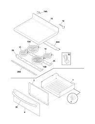 Frigidaire electric range parts diagram top drawer present portrait