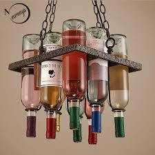 wine lighting. Recycled Vintage Wine Bottle Led Ceiling Pendant Lamps E27 Light Modern For Dining Room Bar Restaurant Kitchen Lighting Fixture Lamp R