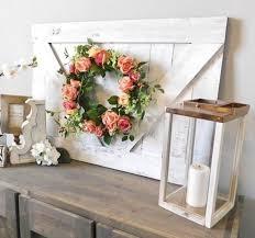 farmhouse wall decor looks like a small barn door easy diy woodworking project