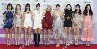 Twice Gaon Chart 2018 South Korean Girl Group Twice Members Pose Editorial Stock