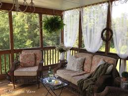 outdoor porch lighting ideas. inexpensive sheer curtains add privacy to screened porch outdoor lighting ideas t