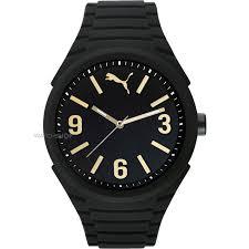 men s puma pu10359 gummy black gold watch pu103592012 watch mens puma pu10359 gummy black gold watch pu103592012