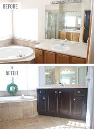painting bathroom cabinet. How To Stain OAK Cabinets...the Simple Method (no Sanding Necessary) Painting Bathroom Cabinet O