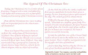 ... Legend of why Xmas tree ...