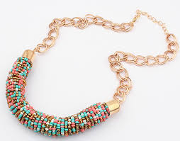2017 women chokers necklace handmade bead necklaces bohemia statement necklace jewelry trends for gift party wedding