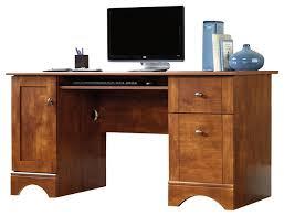 sauder sauder computer desk in brushed maple desks and hutches