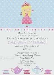 Kids Tea Party Invitation Wording Princess Tea Party Invitations Invitation Wording For Princess Party