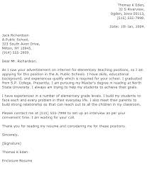 Cover Letter Example For Teachers Teacher Cover Letter Sample