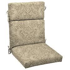 garden treasures neutral stencil fl standard patio chair cushion