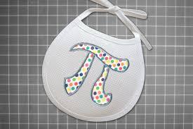 Math Embroidery Designs Math Pi Symbol Applique Embroidery Design
