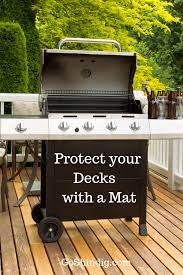 Best Grill Mat For Deck Great For Composite And Wooden Decking Deck Grill Bbq Equipment Wood Deck