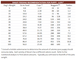 Dog Food Portions Chart Dog Feeding Chart By Age Goldenacresdogs Com