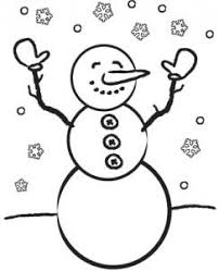 Small Picture Printable Winter Coloring Pages for Kids