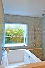 soaker tub shower combo tub shower combo window interesting walls decorative plants shelves faucet dipper contemporary