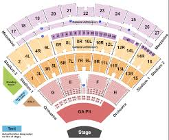 Jones Beach Seating Chart Ga Pit Jones Beach Theatre Seating Map Travel Guide