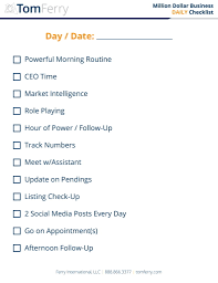 - Checklist Exclusive Tom Referral Daily Real Estate Primoagents Ferry Network Agent