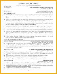 Speech Therapist Resume Best Speech Pathology Resume Examples Penzapoisk